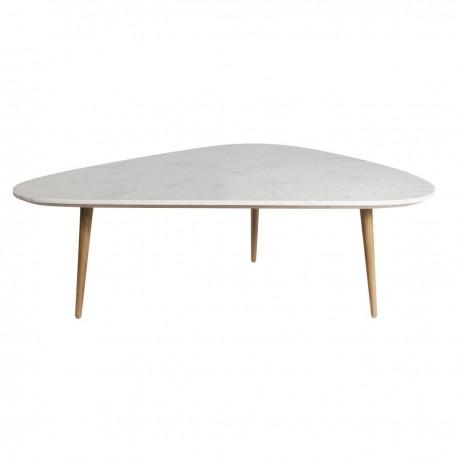 Table basse Fifties - Plateau marbre